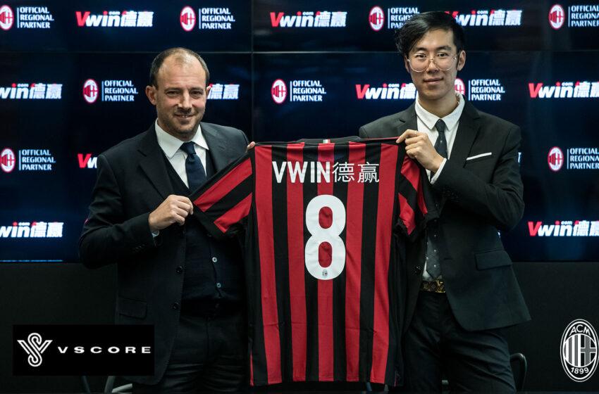 Vscore.asia เว็บไซต์ข่าวกีฬา โดย Vwin สนับสนุนสโมสรเอซีมิลาน ชูพันธมิตรหนึ่งเดียวภูมิภาคเอเชียอย่างเป็นทางการ