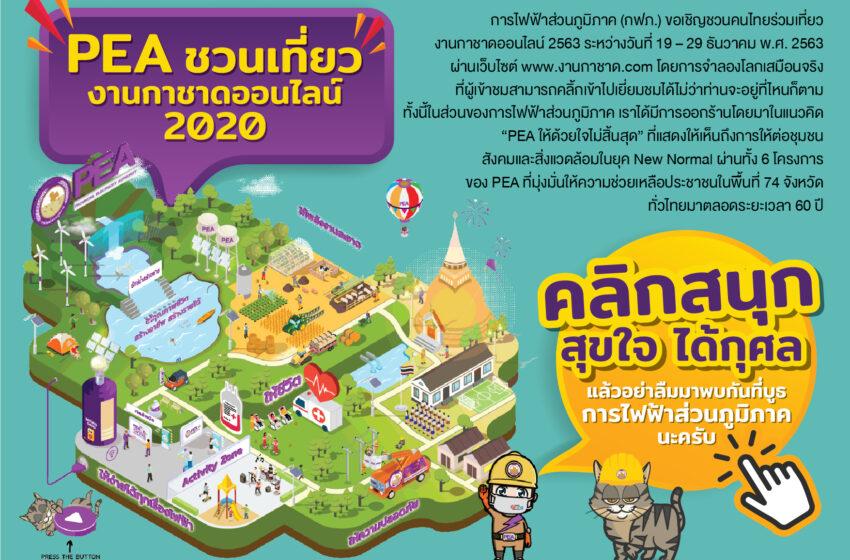 การไฟฟ้าส่วนภูมิภาคเชิญชวนคนไทยเที่ยวงานกาชาดออนไลน์ 2563 รับยุค New Normal