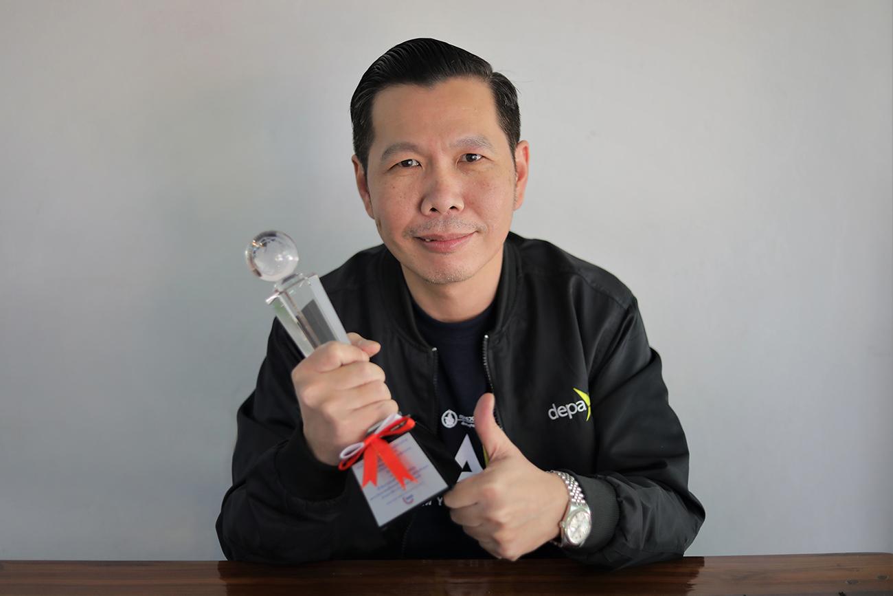 ดร.ณัฐพลนิมมานพัชรินทร์ผู้อำนวยการใหญ่สำนักงานส่งเสริมเศรษฐกิจดิจิทัลหรือดีป้า